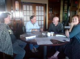 Rick Campbell, Robert MIltner, and Molly Fuller