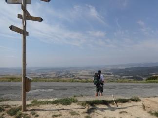 Heading west near Pamplona, Spain