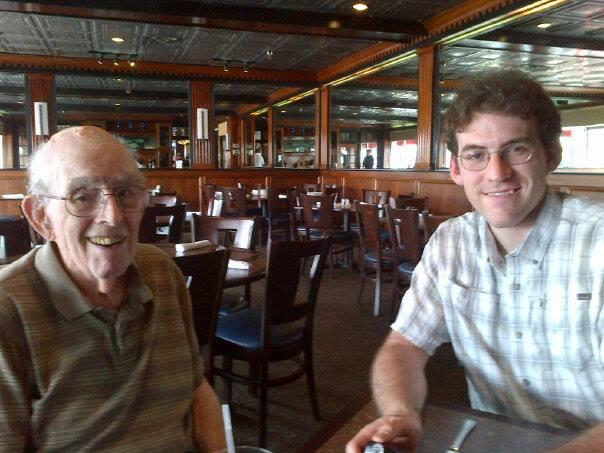 with Dad at Mahi Mahs