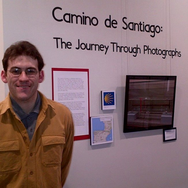 at the opening of his art show at the Quick Center for the Arts in New York