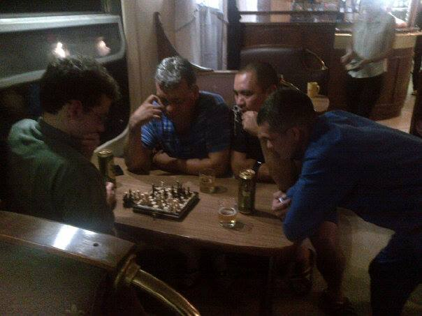 with drunk Russians east of Irkutsk