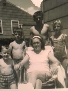 Me (stop laughing), my brother, my Uncle Bob, my sister, with Grandma on Long Island